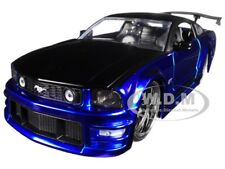 2006 FORD MUSTANG GT BLUE WITH BLACK TOP 1/24 DIECAST CAR MODEL BY JADA 99974