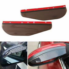 F348 2Pc Smoke Side Blind Spot Mirror Visor Sticker Weather Protect Universal