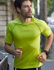 Maglie e top da uomo nera a manica corta per palestra, fitness, corsa e yoga taglia XL