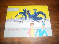 Prospekt Sales Brochure  Miele Moped Motorrad Mokick Mofa K 52