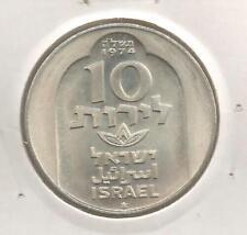 60B) ISRAEL 10 LIROT 1974 (JE5735) SILVER 0,500 - UNC