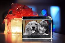 PERSONALISED 3D LASER ENGRAVED CRYSTAL BLOCK GIFT (PUT YOUR PHOTO IN A CRYSTAL)