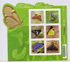 Brasil Mariposas Brasileñas Hojita año 2016 (DZ-116)