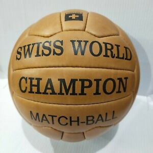 Swiss World CHAMPION (special) | OMB | FIFA World Cup 1954 *Genuine Leather*