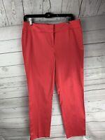 Ann Taylor Black Label Womens size 6 Pink Pants career shiny rayon/cotton blend