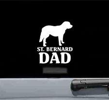 St Bernard Dad dog  vinyl decal sticker bumper car truck pet parent