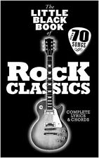 The Little Black Book Of Rock Classics Play Pop GUITAR  CHORDS LYRICS Music Book