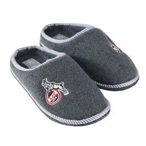 Eintracht Frankfurt Hausschuhe Schuhe Pantoffeln Eintracht Logo Fanartikel grau