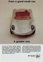 Prospekt GB brochure GP Spyder 1992 Autoprospekt Broschüre Auto PKWs brosjyre