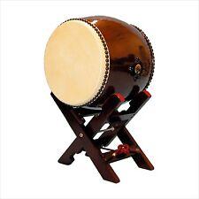 New Japanese drum TAIKO(Long torso no ear) 1.2 feet w/ X-pedestal Set Japan F/S