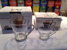 (9) FIDENZA OSLO CAPPUCCINO & ESPRESSO COFFEE MUGS CUPS MADE IN ITALY w/ BOXES