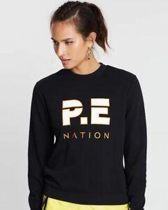 NWT Pe Nation Women Tri-Ball Crew Sweatshirt Activewear Pullover Jumper XS S M L
