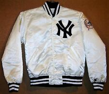 NEW YORK YANKEES WHITE MLB WITH FREE CAP Starter Jacket