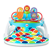 Fisher-Price Deluxe Sit-Me-Up Floor Seat with Toy Tray, Multicolor