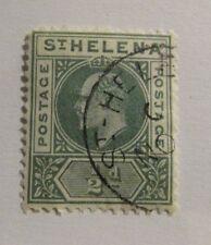 ST HELENA Scott #48 Θ used -  stamp, mute cancel, fine + 102 card