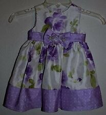 Perfectly Dressed Baby Girl's Party Dress Purple Floral Size 18 Months