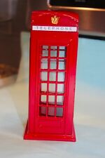 NEW Piggy Bank Vintage British Style London Phone Booth Red Metal in BOX