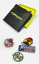 CYBERPUNK 2077 COLLECTOR'S ENAMEL PIN SET NEW OFFICIAL CDP RED PRODUCT BADGE