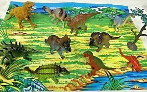 Mini Dinosaur Set with Playmat/Background & Trees