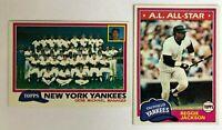 1981 Topps New York Yankees Complete Team Set - (30) Cards - Reggie Jackson