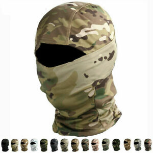 Military Full Face Mask Windproof Headgear Tactical Hunting Camouflage Balaclava