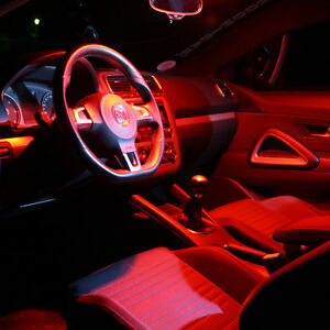 VW Polo V Typ 6R Interior Lights Set Package Kit 10 LED SMD red 1634