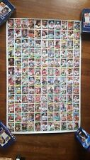 1984 Topps Football Uncut Sheet - RARE! - Green, Tippet, Warner, Andersen RC!