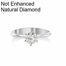 1 CARAT D SI1 NATURAL CLARITY DIAMOND SOLITAIRE ENGAGEMENT RING 14K WHITE GOLD