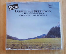 2 CDs by Ludwig van Beethoven, Symphony No. 9 and Piano Concerto No. 1 (Pilz)