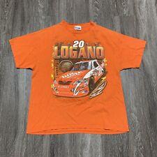 Chase Authentic NASCAR Logano Racing Tee Adult XL Orange Double Sided Toyota