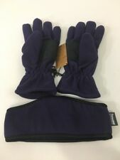 GOLD COAST WOMEN'S 40G THINSULATE GLOVES & HEAD BAND PURPLE LARGE NEW