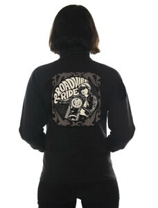 Dragstrip Clothing Women`s Road vibe & Ride Cafe Racer Motorcycle Zip Jumper