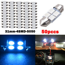 50PCS/Set 31mm 4 SMD 5050 LED Car Interior Festoon Dome Light Bulb Lamp Ice Blue