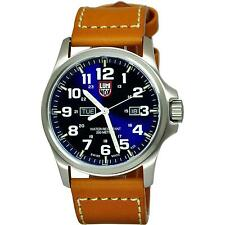 LUMINOX MEN'S ATACAMA FIELD DAY DATE 45MM BROWN LEATHER BAND QUARTZ WATCH 1924