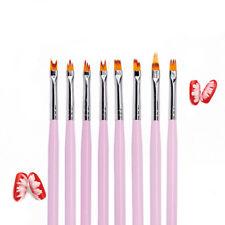 8 tlg. Nail Art Pinsel Set für Ombre Babyboomer Kammpinsel TZB39