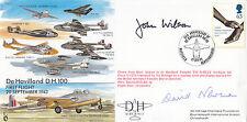 EJA2c 55th Anniv.of De Havilland.DH100 Signed Test Pilot J W Wilson & D Newman A