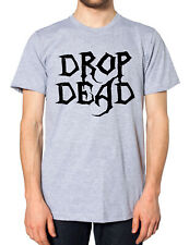 TOPMAN Black Longline T-shirt Cotton Grunge BMTH Dead Drop Death