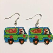 Scooby Doo Mystery Machine Daphne Shaggy Fred Earrings HANDMADE PLASTIC CHARMS