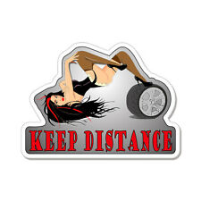 "Keep Distance Hot Girl car bumper sticker decal 5"" x 4"""