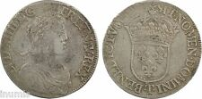 Louis XIV, écu à la mèche longue, 1652, Nantes, argent - 59
