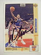 MAURICE CHEEKS signed KNICKS 1991-92 Upper Deck basketball card AUTO SIXERS #281
