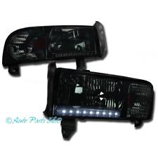 94-01 DODGE RAM LED STRIP CRYSTAL SMOKE HEAD LIGHTS+CORNER SIGNAL 1500 2500 3500