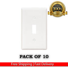 NEW HOME WHITE SINGLE TOGGLE SWITCH WALL PLATES COVER LOT LIGHT SWITCH 10-PACK