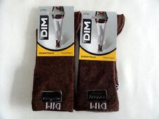 Lot 2 Paires de Mi-Chaussettes Viscose Angora Dim Unie marron chocolat T37/41