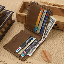 Cool Men's Leather Clutch Wallet ID Bifold Business ID/Credit Card Holder Purse