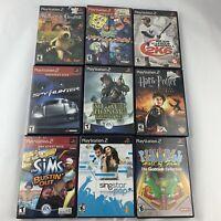 Lot Of Playstation 2 PS2 Games Spongebob Pinball Wallace & Gromit Sims CIB D