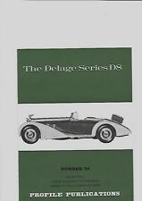 THE DELAGE SERIES D8  PROFILE PUBLICATIONS BOOK