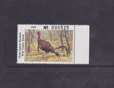 State Hunting/Fishing Revenues - ND - 1985 Wild Turkey ($5) - MNH