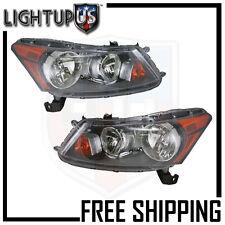 Headlights Headlamps Pair Left right set for 08-12 Honda Accord Sedan