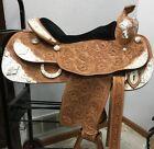 "Reinsman 16"" Supreme Show Saddle 4565-160W Beautiful Diamond Silver and Tooling"